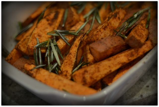 Sweet potato wedges